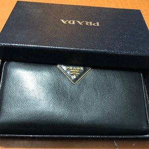 Prada 7.5inch Calf Skin Leather Wallet